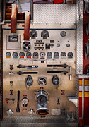 Fire Engine Framed Prints - Fireman - For guys only  Framed Print by Mike Savad