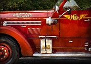 Fire Engine Framed Prints - Fireman - Garwood Fire Dept Framed Print by Mike Savad