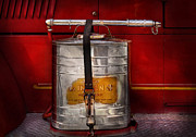 Firefighter Posters - Fireman - Indian Pump  Poster by Mike Savad