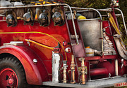 Customized Framed Prints - Fireman - Ready for a fire Framed Print by Mike Savad