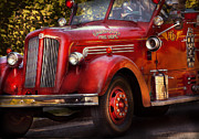 Fire Engine Photos - Fireman - The Garwood fire dept by Mike Savad