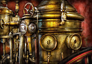 Rescue Posters - Fireman - The Steam Boiler  Poster by Mike Savad