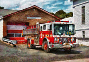 Fire Engine Photos - Fireman - Union Fire Company 1  by Mike Savad