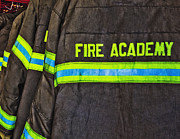 Technical Photo Prints - Fireman Jackets Print by Skip Nall