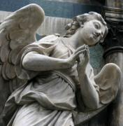 Religious Prints Photos - Firenze Angel by Paula Hammond