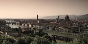 Arno River Prints - Firenze at Sunset Print by Andrew Soundarajan