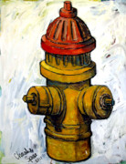 Pull Posters - Fireplug Poster by Charlie Spear