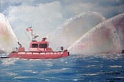 Fireboat Framed Prints - Firestorm 30 Framed Print by Campbell Dickison