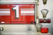 Career Framed Prints - Firetruck Detail I Framed Print by Kicka Witte - Printscapes