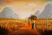 Pathway Paintings - Firewood Collectors by Nisty Wizy