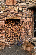 Shed Digital Art Framed Prints - Firewood Framed Print by Tom Prendergast
