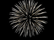Black And White Photography Pyrography Metal Prints - Firework 2 Metal Print by Serena Ballard