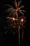 Pyrotechnic Photo Framed Prints - Fireworks 1580 Framed Print by Michael Peychich