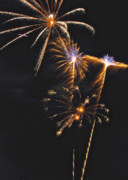 Pyrotechnic Photo Framed Prints - Fireworks 3 Framed Print by Michael Peychich