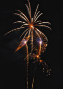 Pyrotechnic Photo Framed Prints - Fireworks 5 Framed Print by Michael Peychich