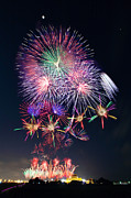 Firework Display Posters - Fireworks At Luerhmen Sheng-mu Temple Poster by Jung-Pang Wu