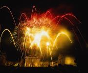 Philadelphia Museum Of Art Posters - Fireworks At Philadelphia Museum Of Art Poster by Axiom Photographic