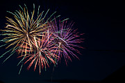 Fire Works Photos - Fireworks at Pitt Meadows day by Ivan SABO