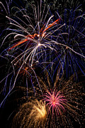 Independence Day Metal Prints - Fireworks Celebration  Metal Print by Garry Gay