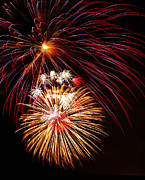 Pyrotechnics Prints - Fireworks Display Print by G. Brad Lewis