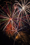Fireworks Prints - Fireworks display Print by Garry Gay