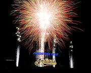 Ballpark Prints - Fireworks Finale Print by Robert Harmon