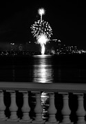Bayshore Boulevard Posters - Fireworks fountain Poster by David Lee Thompson