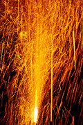 Explode Posters - Fireworks Fountain Poster by Garry Gay