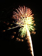 Fireworks From A Boat - 9 Print by Jeffrey Peterson