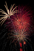 Independence Day Metal Prints - Fireworks Metal Print by Garry Gay