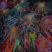 Teodoro  De La Santa - Fireworks in the City