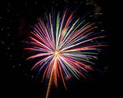 Sky Fire Prints - Fireworks in the Night Sky 10 Print by Steven Love