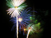 Sky Fire Prints - Fireworks in the Night Sky 3 Print by Steven Love