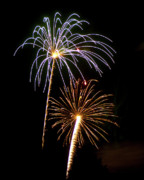 Burst Prints - Fireworks in the Night Sky 4 Print by Steven Love