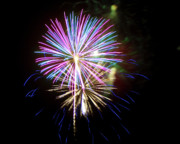 Sky Fire Prints - Fireworks in the Night Sky 9 Print by Steven Love