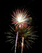 Burst Prints - Fireworks in the Night Sky Print by Steven Love