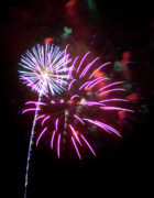 Burst Prints - Fireworks in Tonopah Arizona 2 Print by Steven Love