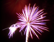 Burst Prints - Fireworks in Tonopah Arizona 4 Print by Steven Love