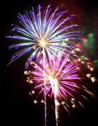 Burst Prints - Fireworks in Tonopah Arizona Print by Steven Love