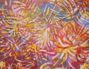 Fireworks Paintings - Fireworks by Jennifer Henson