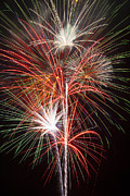 Pyrotechnic Photos - Fireworks light up the night by Garry Gay