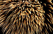 Bastille Photo Prints - Fireworks light up the sky Print by Sami Sarkis
