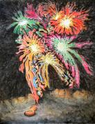 Fireworks Paintings - Fireworks Man by Dave Martsolf
