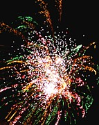 Saybrook Prints - Fireworks Print by Meandering Photography