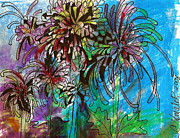 Claudia Smaletz Metal Prints - Fireworks Mums Metal Print by Claudia Smaletz