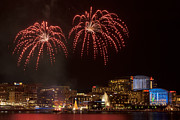 Fireworks Prints - Fireworks National Harbor Print by Mark VanDyke
