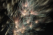 Bastille Photo Prints - Fireworks on Bastille Day Print by Sami Sarkis