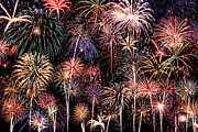 Celebration Art Print Photo Prints - Fireworks Spectacular II Print by Ricky Barnard
