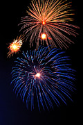 4th July Metal Prints - Fireworks Wixom 1 Metal Print by Michael Peychich