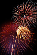Bursting Posters - Fireworks Wixom 3 Poster by Michael Peychich